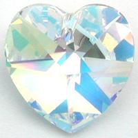 Image Swarovski Pendants 14mm heart (6228) crystal ab (clear)