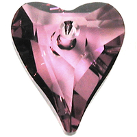 Swarovski Pendants 12mm wild heart pendant 6240 crystal antique pink