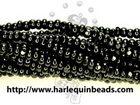 Seed Beads Czech Charlotte size 8 black opaque