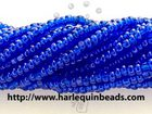 Seed Beads Czech Charlotte size 11 cobalt blue transparent