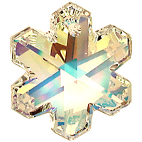 Swarovski Pendants 20mm snowflake (6704) crystal ab (clear)