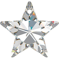 Swarovski Pendants 20mm star (6714) crystal (clear)