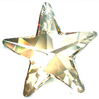 Swarovski Pendants 28mm star (6714) crystal ab (clear)