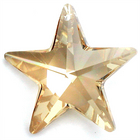 Swarovski Pendants 28mm star (6714) crystal golden shadow