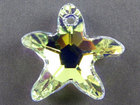 Swarovski Pendants 28mm starfish (6721) crystal ab (clear)