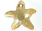 Swarovski Pendants 28mm starfish (6721) crystal golden shadow