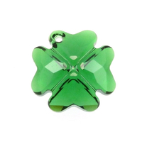 Swarovski Pendants 19mm clover pendant (6764) dark moss green