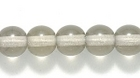Czech Pressed Glass 6mm round grey transparent