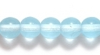 Czech Pressed Glass 6mm round light aqua blue transparent