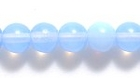 Czech Pressed Glass 6mm round sapphire blue opalescent