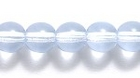 Czech Pressed Glass 6mm round light sapphire blue transparent