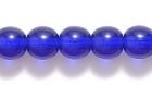 Czech Pressed Glass 6mm round cobalt blue transparent