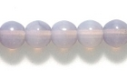 Czech Pressed Glass 6mm round lilac opalescent