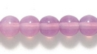 Czech Pressed Glass 6mm round pink opalescent