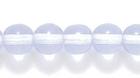 Czech Pressed Glass 6mm round alexandrite (blue to purple) transparent