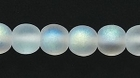 Czech Pressed Glass 6mm round crystal ab transparent iridescent matte