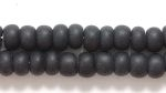 Seed Beads Czech pony size 6 black opaque matte