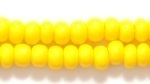 Seed Beads Czech pony size 6 dark yellow opaque