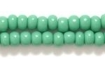 Seed Beads Czech pony size 6 green opaque