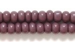 Seed Beads Czech pony size 6 dark purple opaque