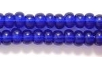 Seed Beads Czech pony size 6 cobalt transparent