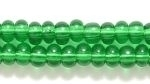 Seed Beads Czech pony size 6 christmas green transparent