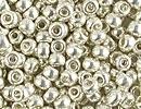 Image Seed Beads Miyuki Seed size 8 galvanized silver metallic