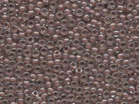 Image Seed Beads Miyuki Seed size 8 crystal w/cocoa color lined