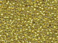Image Miyuki Seed size 8 yellow ab silver lined iridescent