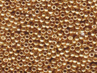 Image Seed Beads Miyuki Seed size 8 galvanized gold metallic