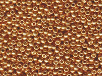 Image Seed Beads Miyuki Seed size 8 galvanized yellow gold metallic
