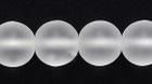 Czech Pressed Glass 8mm round crystal transparent matte