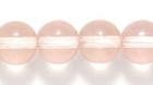 Czech Pressed Glass 8mm round peachy pink transparent
