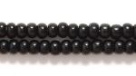 Image Seed Beads Czech Seed size 8 black opaque