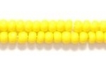 Seed Beads Czech Seed size 8 light yellow opaque