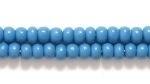 Czech Seed size 8 slate blue opaque
