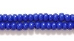 Czech Seed size 8 royal blue opaque