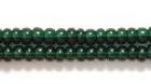 Seed Beads Czech Seed size 8 dark green transparent