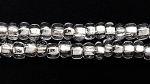 Czech Seed size 8 crystal clear silver lined