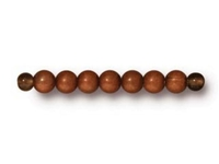Metal Beads 3mm round copper