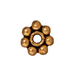 Metal Beads 4mm daisy spacer antique gold lead free pewter