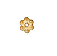 Metal Beads 3mm daisy spacer gold finish lead free pewter