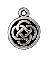 Image Metal Charms Celtic round antique silver 12mm