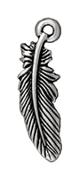 Metal Charms feather antique silver 23mm