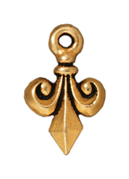 Metal Charms Fleur De Lis antique gold 9 x 14mm