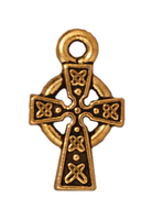 Metal Charms Celtic Cross antique gold small