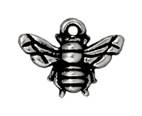 Image Metal Charms honeybee antique silver 16mm