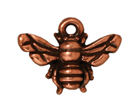 Metal Charms honeybee antique copper 16mm
