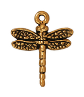 Metal Charms dragonfly antique gold 16 x 20mm