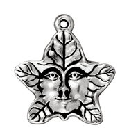 Metal Charms tree spirit antique silver 20mm